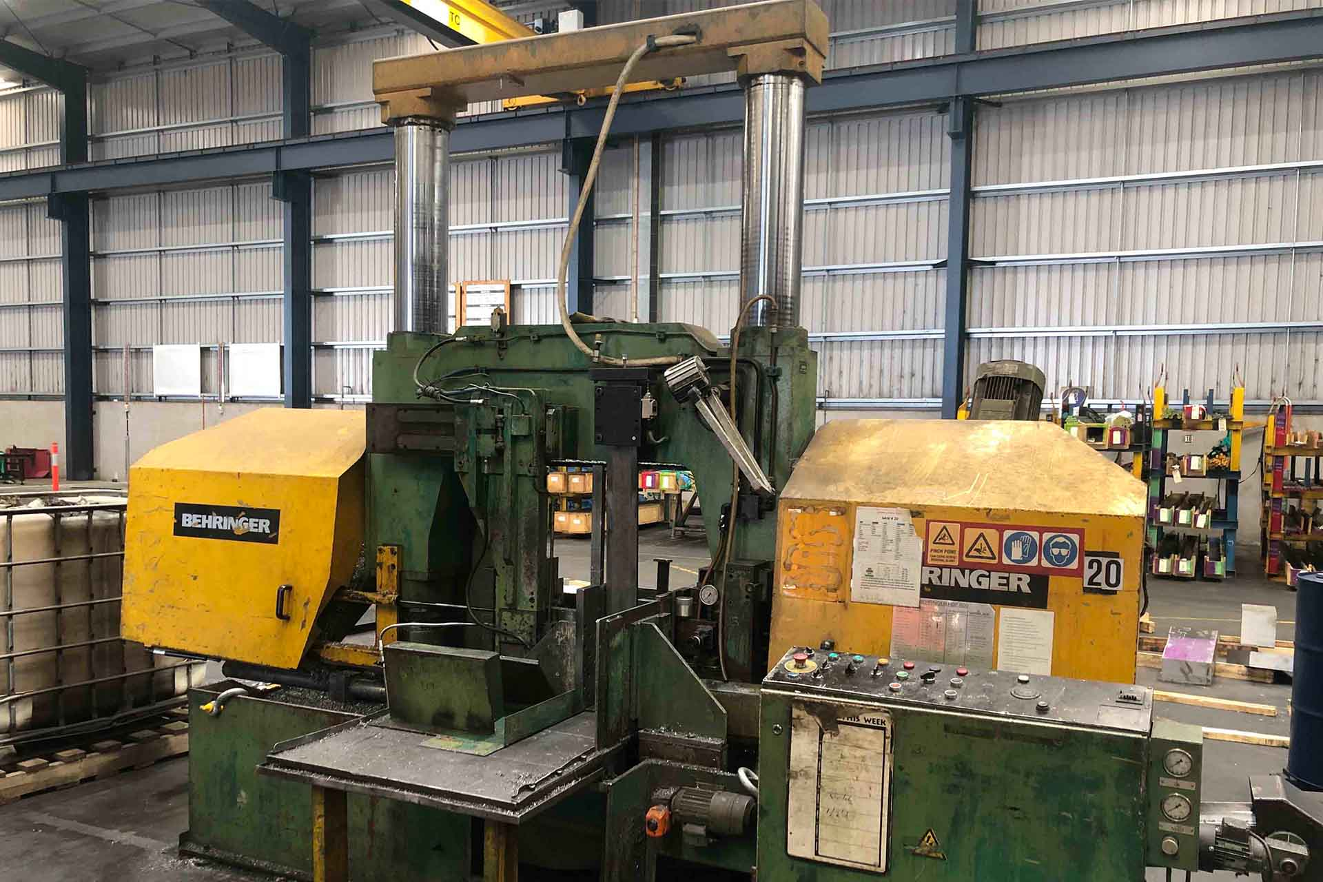 Used Behringer HBP800 Fully Auto Band Saw Just Landed